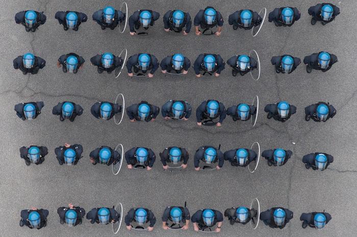 Milano, reparti mobili della Polizia di Stato